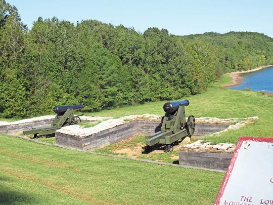 Visitors at Fort Donelson can see the river batteries built by Confederate soldiers to protect and defend transportation and supply routes.