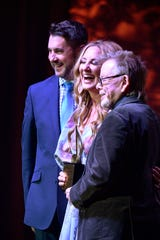 Lee Ann Womack received the prestigious ASCAP Golden Note Award at the 2018 ASCAP Country Music Awards at the Renaissance Hotel