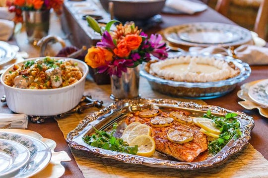 The Puckett's Boat House Thanksgiving catering menu is offering Southern classics with a splash of seafood such as oyster cornbread dressing, peel-and-eat shrimp, gumbo and whiskey grits.