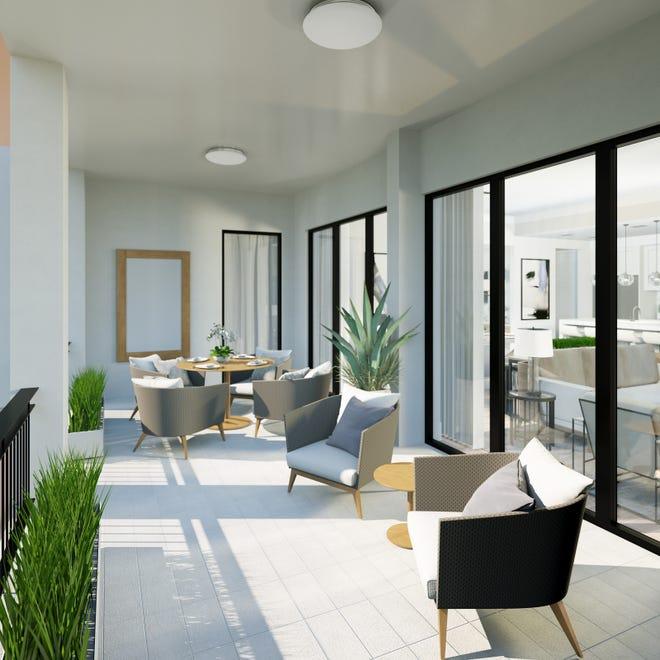 Naples Square's Phase III Biltmore's terrace is 20 percentlargermeasuring242 square feet.