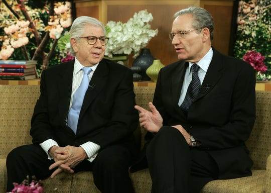 Watergate reporters Carl Bernstein, left, and Bob Woodward, shown here in 2005. The two reporters in the 1970s won the Pulitzer Prize while at the Washington Post for uncovering the Watergate scandal that resulted in the resignation of President Richard Nixon.