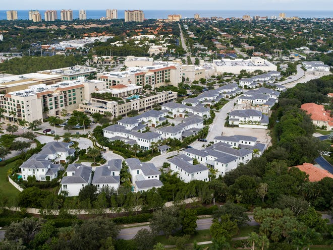 Residences at Mercato is a gated community of 46 coastal contemporary residences. Five home sites remain.