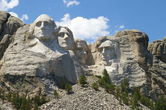 Mount Rushmore National Memorial is shown near Keystone, S.D.