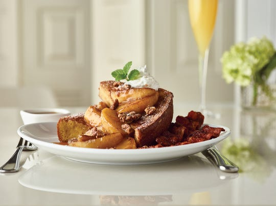 Cinnamon Apple Brioche French Toast for brunch at Fleming's Prime Steakhouse & Wine Bar in Naples.