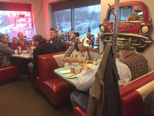 An annual tradition, veterans gathered throughout the day Nov. 13 at Nutcracker Family restaurant for comradeship and a free meal.