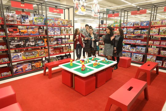 The tour takes in the children's play area that is surrounded by educational toys.
