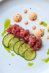 Tuna tartare, a work of art at Vanillamore in Montclair