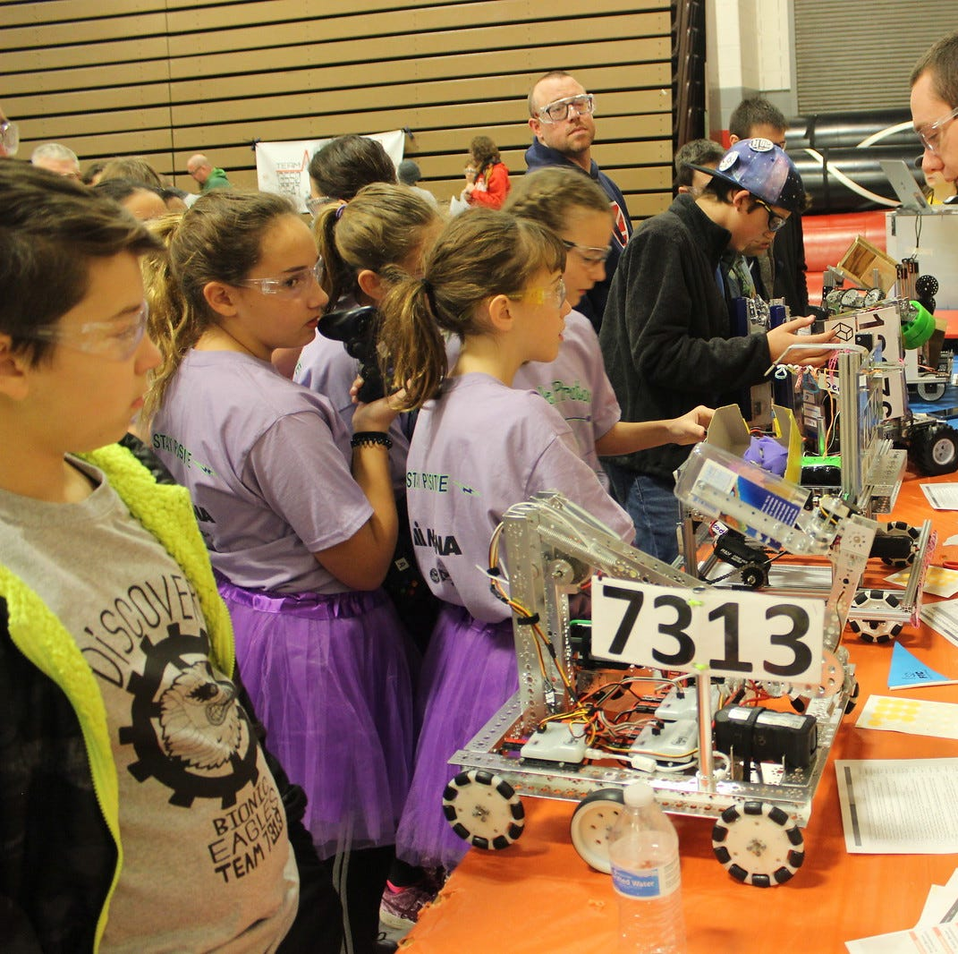 Robotics light shines on middle schoolers