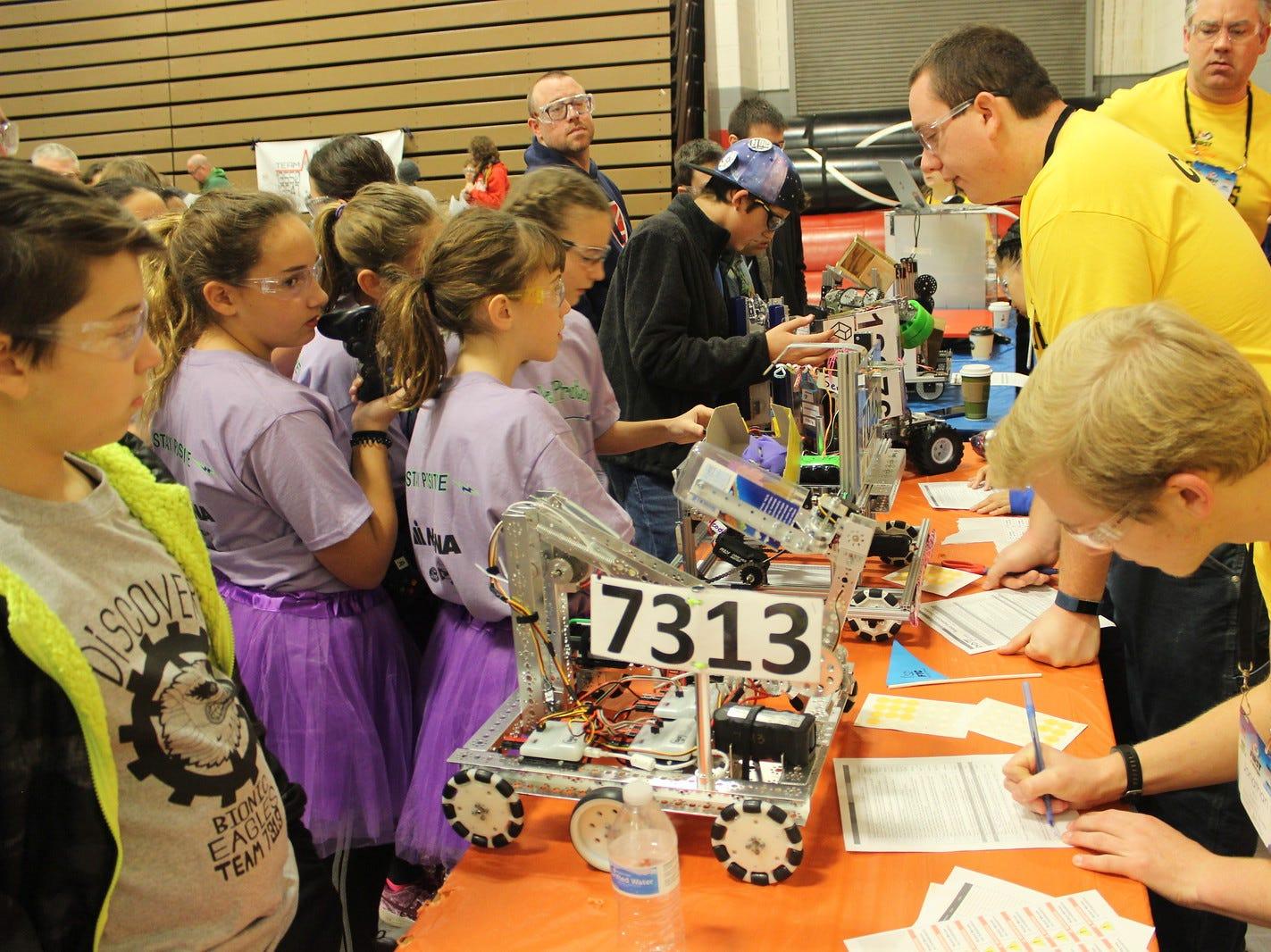 Robotics light shines on middle schoolers