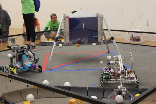 Some 36 middle school teams competed on two fields set up by FIRST Robotics Team 862 at Canton High School.
