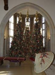 """""""Nutcracker in the Castle"""" features elaborate scenes throughout the Paine Art Center and Gardens in Oshkosh. It opens on Friday."""