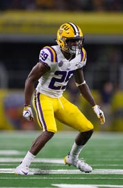Tigers cornerback Greedy Williams (29) has turned heads this season. Could he bit a fit on the Arizona Cardinals?
