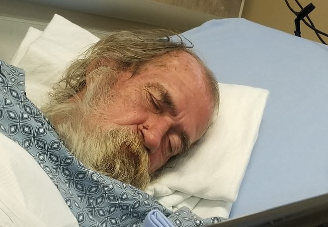 Martin, 67, was found at a bus stop in Phoenix with an amputated foot wrapped in dirty bandages. Leigh Bowie, the nurse who found him, took him to the hospital, worried he would end up on the streets again.