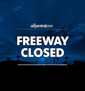 Freeway closed