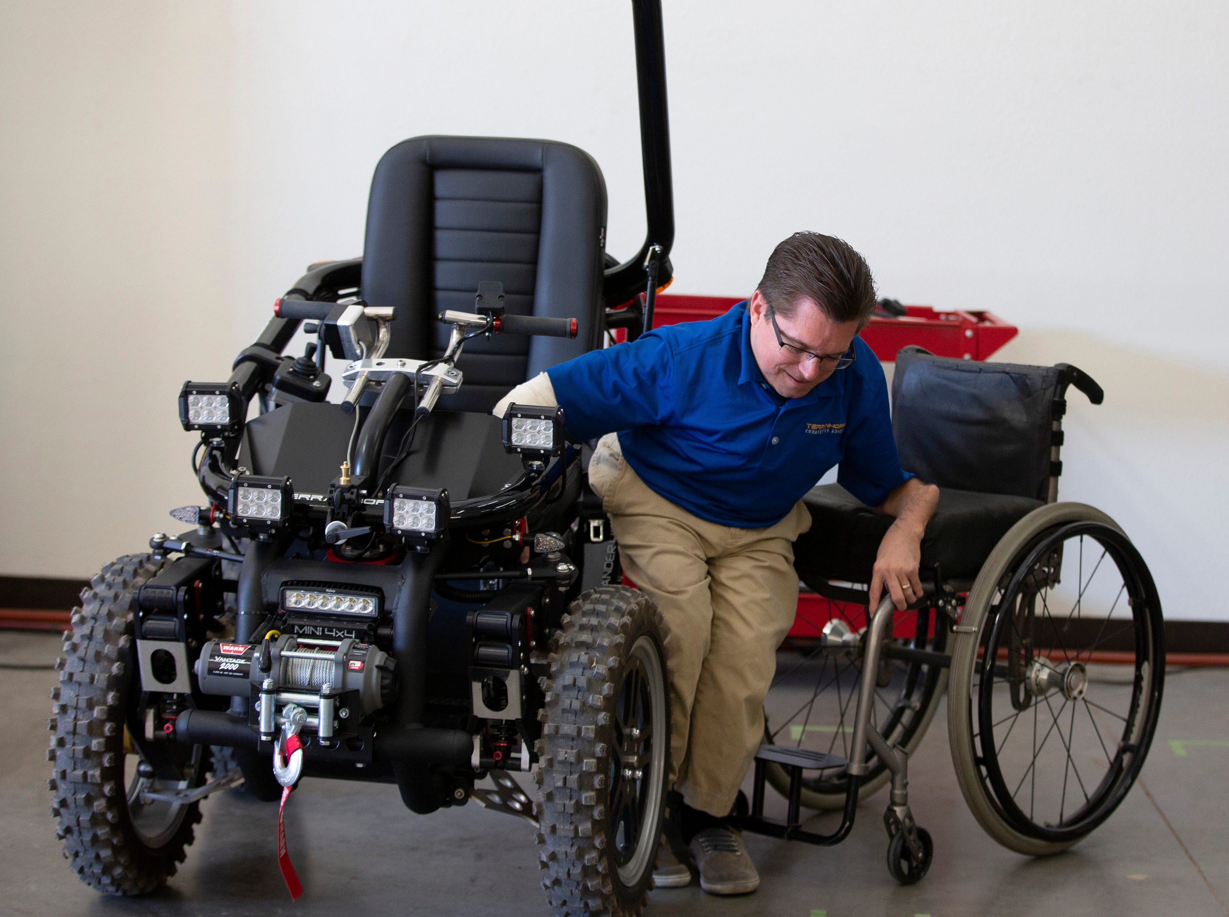 Todd Lemay, owner of TerrainHopper USA in Tempe, makes all-terrain vehicle for people with disabilities or everyday mobility issues.
