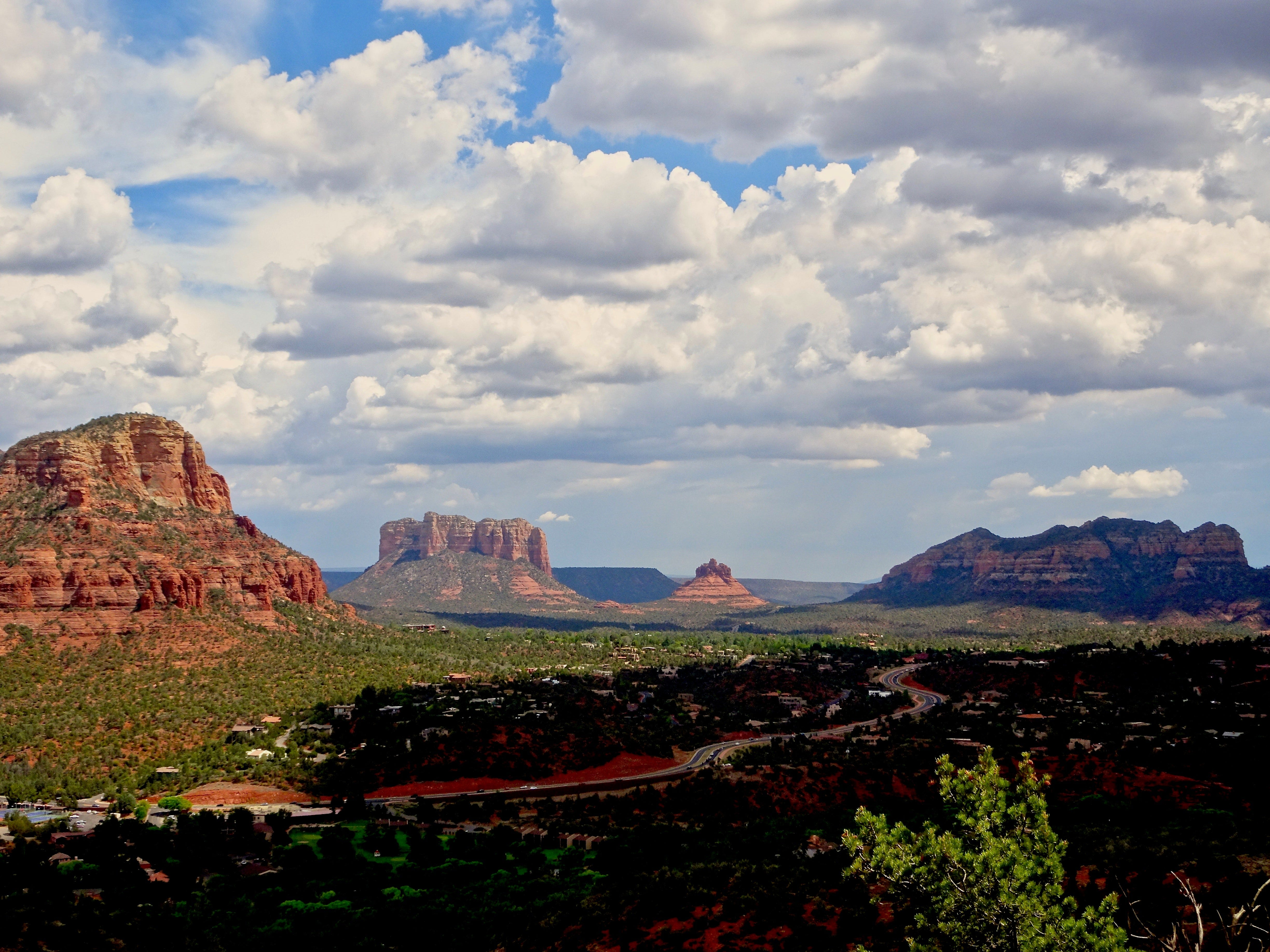 Expansive red rock views can be enjoyed from Sedona's Airport Mesa.