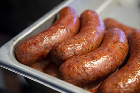 Chef/owner Scott Holmes is getting ready to open his second Little Miss BBQ in north Phoenix. Here's a closeup look at some sausages.