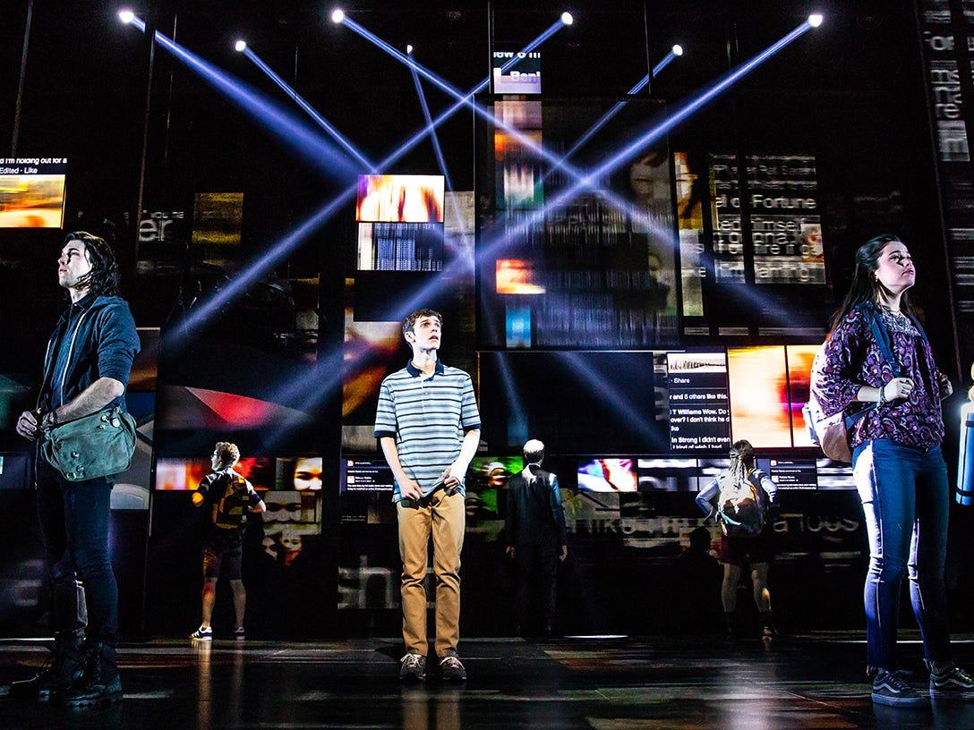 "Ben Levi Ross as Evan Hansen on the first North American tour of ""Dear Evan Hansen."""