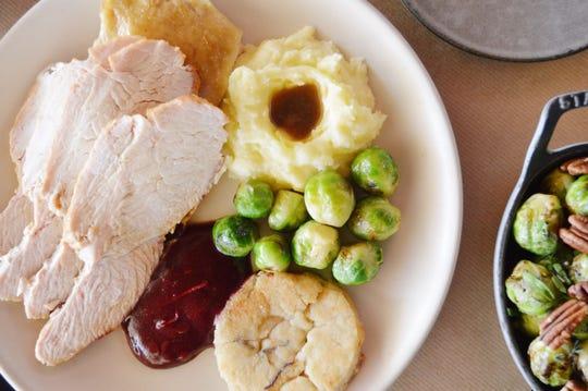 The Thanksgiving turkey dinner at J&G Steakhouse.