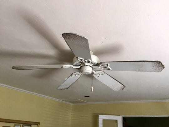 I snapped off the ceiling fans that had been running all summer - and realized I'd have to dust.