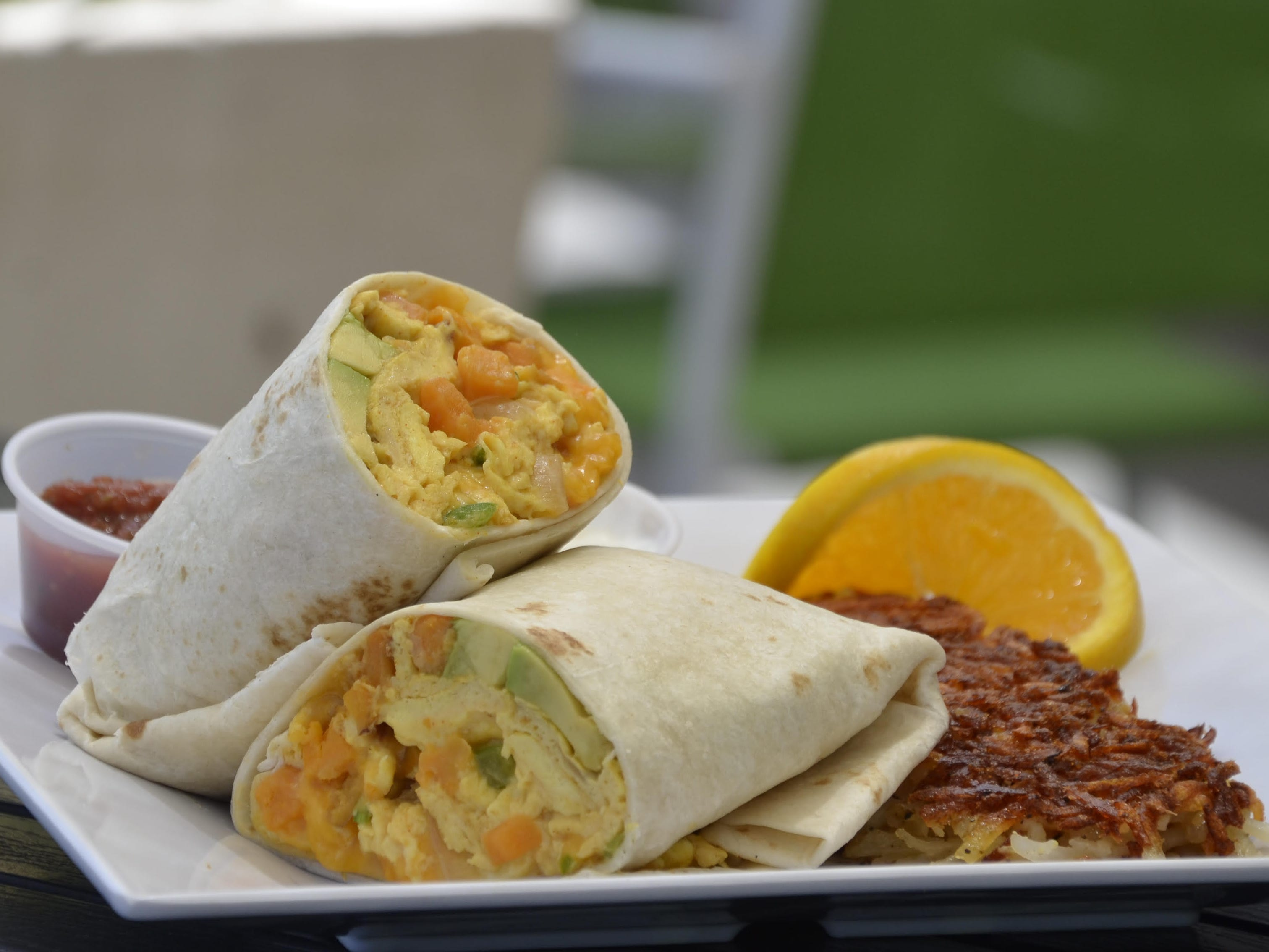 The harvest burrito at Scramble - A Breakfast & Lunch Joint.