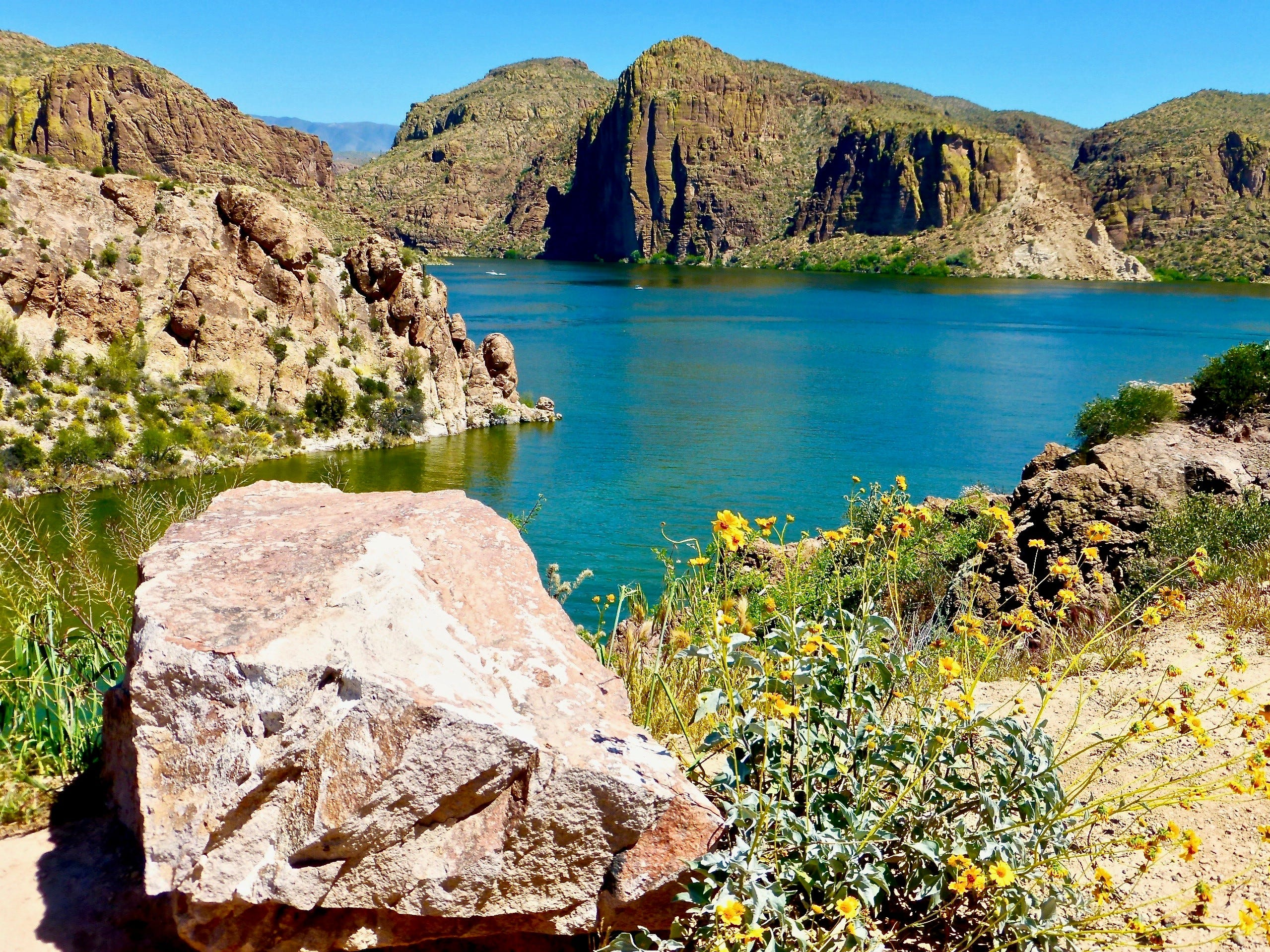 Canyon Lake, the home of Dolly Steamboat, is along the Apache Trail east of Phoenix.