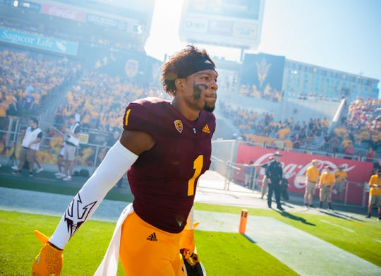 Arizona State Sun Devils wide receiver N'Keal Harry is projected to go as high as No. 3 in the 2019 NFL draft in NFL mock drafts.