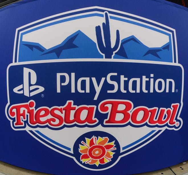 Which teams will face off in the PlayStation Fiesta Bowl this season?