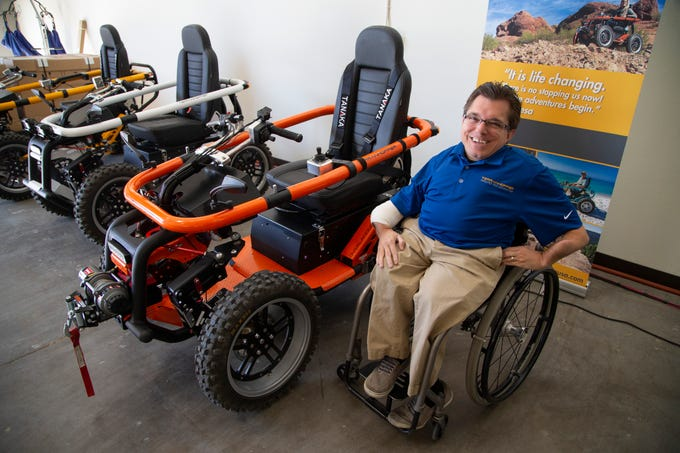 Todd Lemay, owner of TerrainHopper USA in Tempe, makes all-terrain vehicles for people with disabilities or everyday mobility issues.