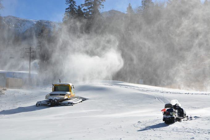 Snowmaking efforts have Arizona Snowbowl set to open on Nov. 16, 2018.