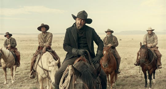"Ralph Ineson plays the Man in Black in ""The Ballad of Buster Scruggs."""