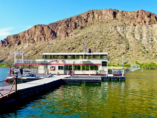 Dolly Steamboat   Of all the outings you expect to find in the middle of the desert, a steamboat ride might seem the most unlikely. But make the drive to Canyon Lake and you can take a scenic cruise on Dolly Steamboat.   Details: 480-827-9144, www.dollysteamboat.com.