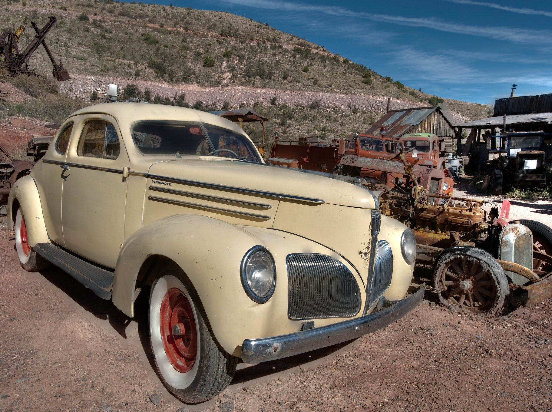 Trucks, cars and nearly every other manner of conveyance line the pathways at Gold King Mine and Ghost Town near Jerome.