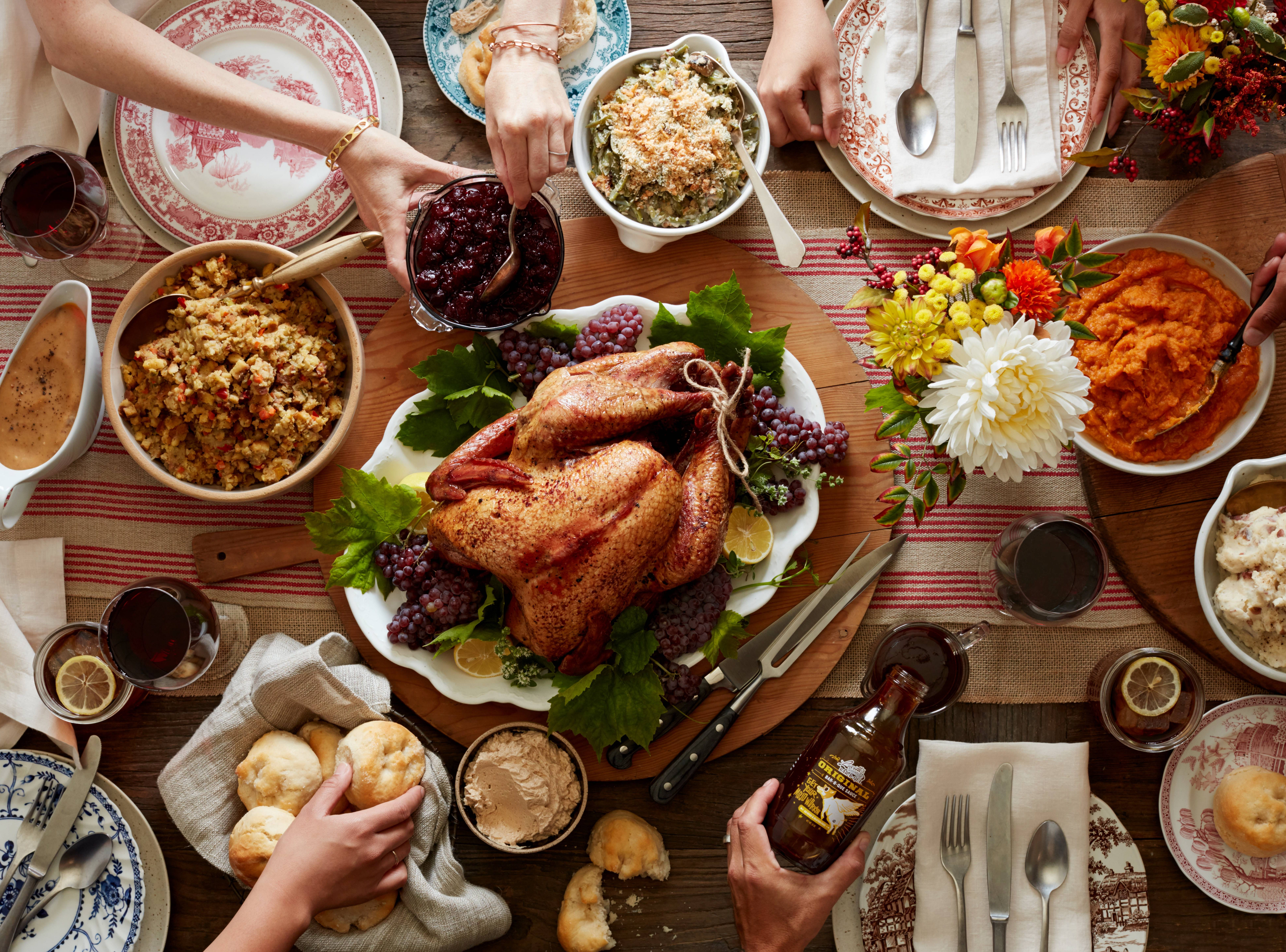 The Thanksgiving dinner at Lucille's Smokehouse & BBQ.