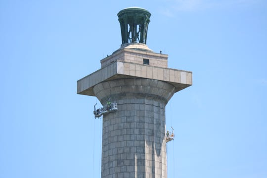 A $1.8 million restoration project on the 352-foot-tall memorial column was completed in 2017.