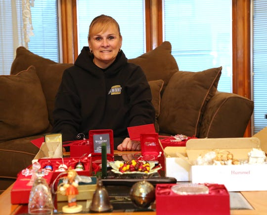 Ann Marie Bybel with some of her Christmas ornament collection at her home in Wappingers Falls on November 9, 2018.