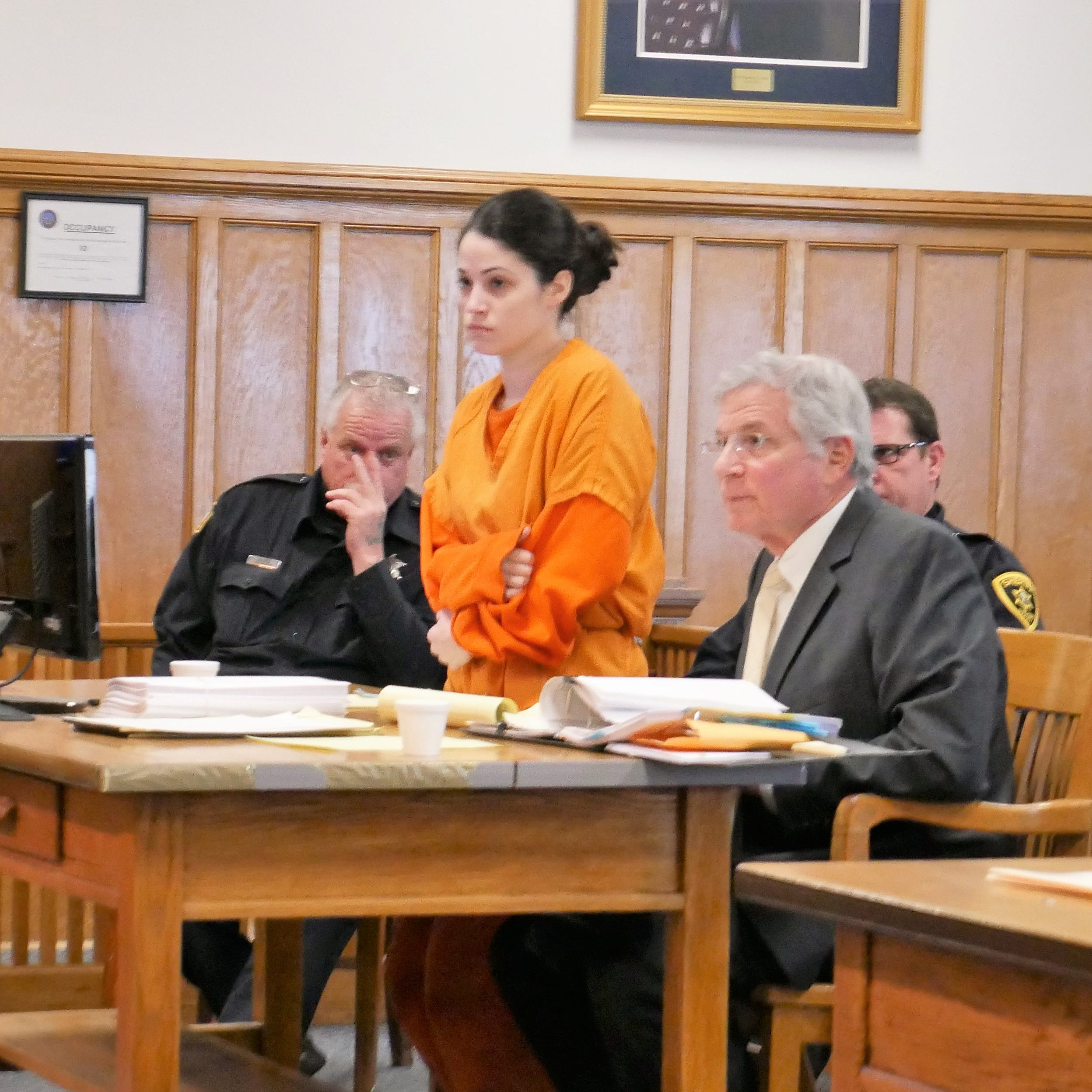 Nicole Addimando stands in Dutchess County Court during a pretrial hearing on Nov. 13, 2018.