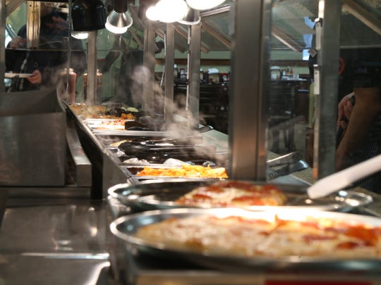 Food ready to serve at Golden Corral in the Town of Poughkeepsie on November 13, 2018.