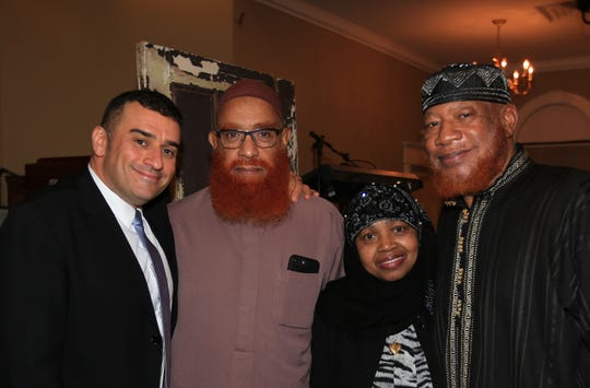 Rabbi Brent Slovek, left to right, Imam Hasan Mumin, Waheebah Wajid and Imam Abdullah Wajid are shown during the Nov. 1 One Beacon - Light in the Darkness of Racism & Anti-Semitism event.