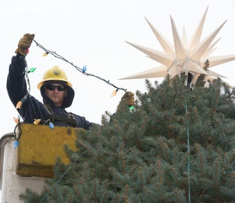 Here's a timelapse video of the Christmas tree being posted at Memorial Square in Chambersburg.