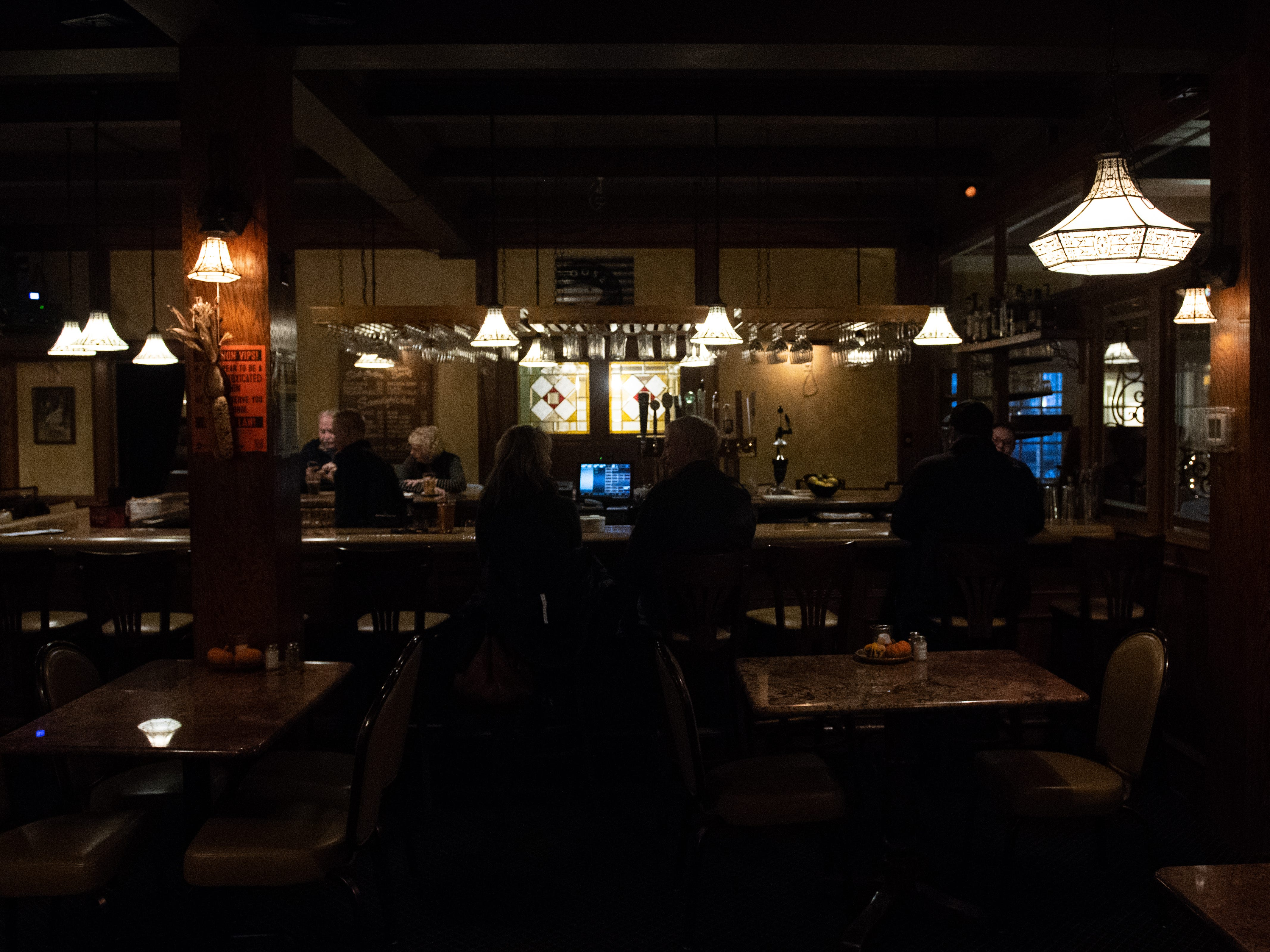 Roosevelt Tavern is dimly lit, adding to the restaurant's ambiance, November 9, 2018.