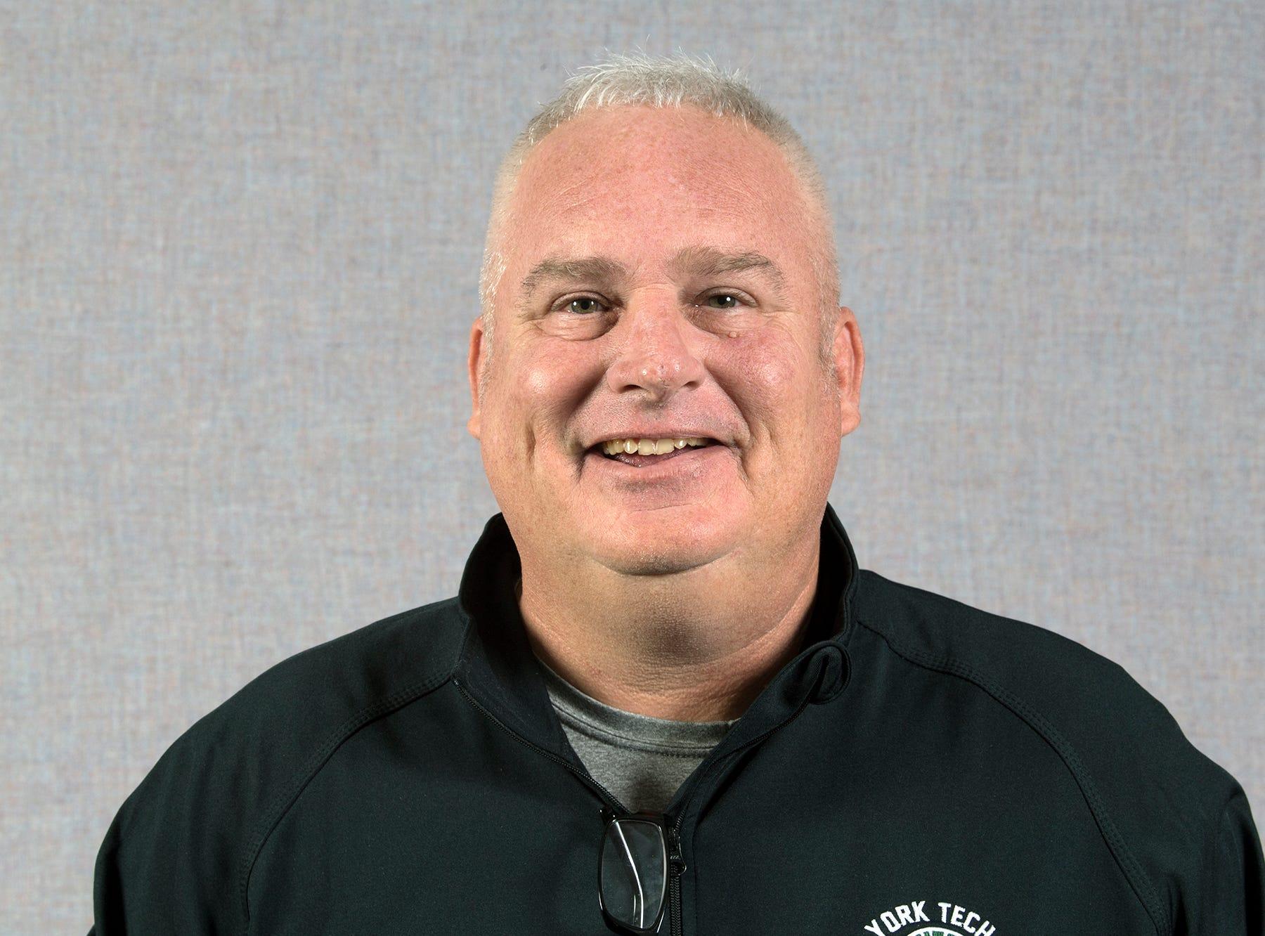 Coach Jim Collins, York Tech Basketball, during the 2018-19 GameTimePa YAIAA Winter Media Day Sunday November 11, 2018.