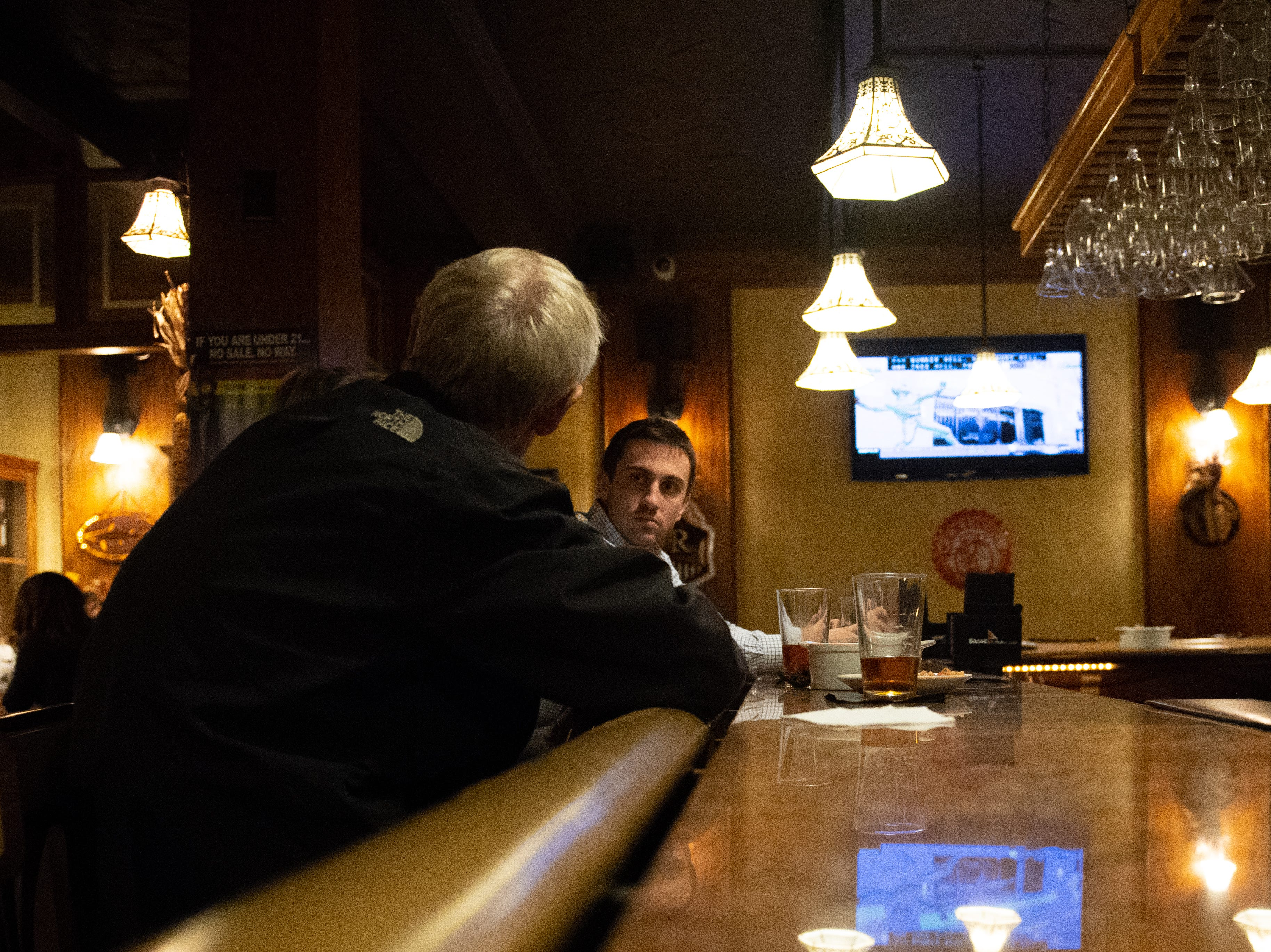 There's plenty of room at the bar during happy hour at Roosevelt Tavern in downtown York.