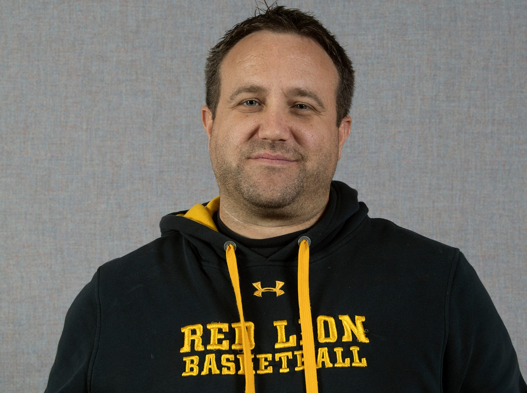 Coach Steve Schmehl, Red Lion boys basketball, during the 2018-19 GameTimePa YAIAA Winter Media Day Sunday November 11, 2018.