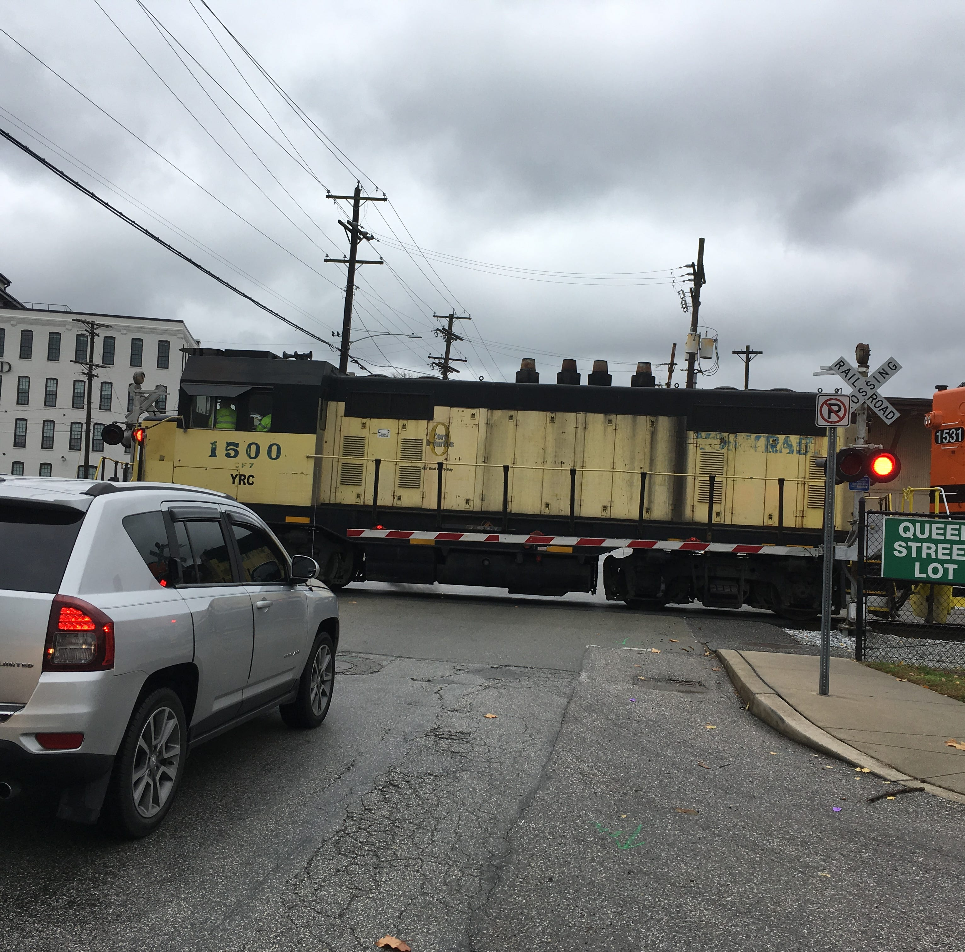 What's up with those freight trains blocking York City intersections?