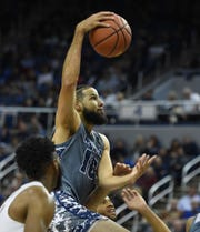 Nevada's Caleb Martin goes up to score against Pacific at Lawlor Events Center.