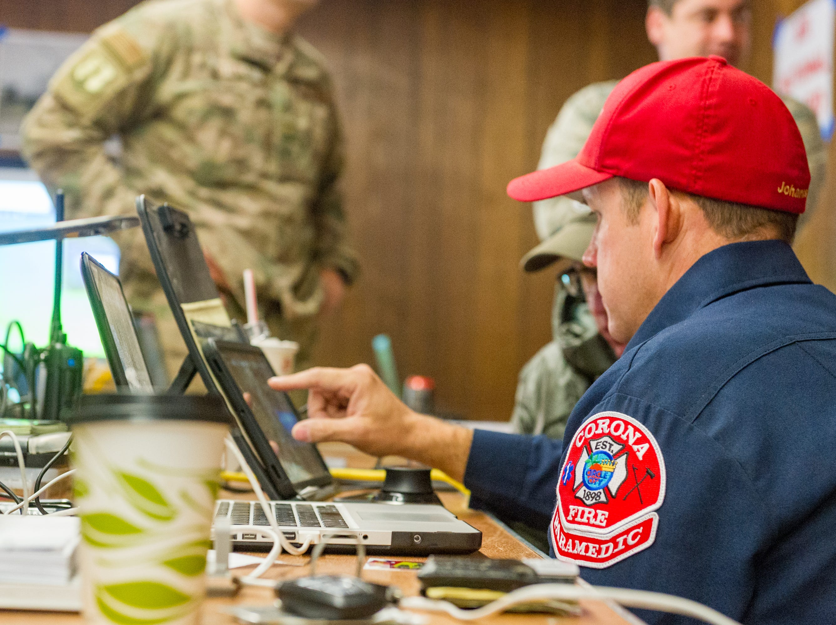 Command Center at the Chico Fairgrounds for the Camp Fire in Northern California. Monday, Nov. 12, 2018.