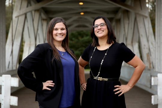 City Council-elects Paige Hook (left) and Jordan Ohrt (right) are pictured on Monday, Nov. 12, 2018 in Stayton.