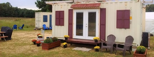 Roger Brul, a Delmarva tiny house entrepreneur, was attracted to the shipping container approach. His company, Tiny House Container, is now converting shipping units into small dwellings, mostly for seasonal use.
