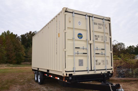 One of the shipping containers to be converted into small dwellings by the company Tiny House Container.